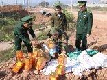 Xã hội - Tiêu hủy 1.900 bao thuốc lá nhập lậu và 28kg pháo hoa nổ giàn