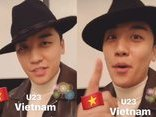 Giải trí - Clip: Ca sĩ nhóm Big Bang chúc mừng U23 Việt Nam bằng tiếng Việt