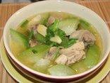 Gia đình - Cách làm món canh bí nấu thịt gà ngọt mát