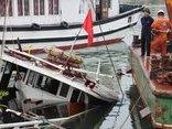 Tin nhanh - Quảng Ninh: Tàu du lịch gặp sự cố, chìm tại cảng quốc tế Tuần Châu