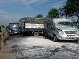 Tin nhanh - TP.HCM: Hơn 10 du khách Hàn Quốc kêu cứu trong xe khách bốc cháy
