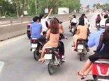 Cộng đồng mạng - Nhóm thanh niên rước dâu lạng lách, đánh võng trên Quốc lộ 1A