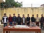 An ninh - Hình sự - Ninh Bình: Đột kích, bắt giữ 10 đối tượng đang đánh bạc