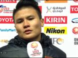 Mới- nóng - Clip: Quang Hải chia sẻ cảm xúc sau trận thắng trước U23 Qatar