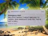 Tiêu điểm - Mỹ:  Người dân đảo Hawaii kinh hãi vì cảnh báo tên lửa đang đe dọa