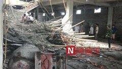 Tin nhanh - Nam Định: Sập giàn giáo công trình xây dựng, 1 người chết, nhiều người bị thương