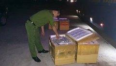 Tin nhanh - Xe giường nằm chở 1,5 tấn cá thể mèo thối bị bắt tại Hà Tĩnh