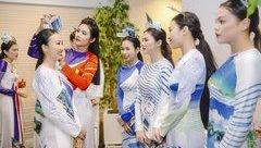Ngôi sao - Áo dài do Ngọc Hân thiết kế được bạn bè quốc tế khen ngợi