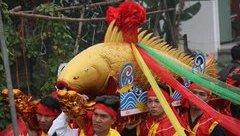 Xã hội - Độc đáo lễ hội rước cá sủ vàng