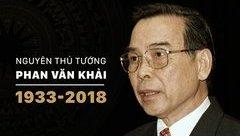Chính trị - Tổ chức Quốc tang nguyên Thủ tướng Phan Văn Khải