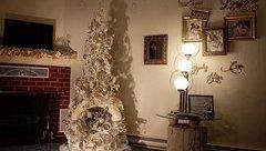 Mới- nóng - Clip: Độc đáo cây thông Noel được làm từ lốp xe cũ và ống nhựa