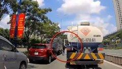 Mới- nóng - Tài xế xe bồn bị lái xe tải chặn đầu, cầm gậy vụt liên tiếp vào người