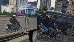 Xa lộ - Clip: Đôi nam nữ liều lĩnh chạy xe máy ngược chiều đường vành đai 3