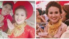 Cộng đồng mạng - Cô dâu vàng đeo trĩu cổ tiết lộ gia thế và số vàng được trao trong ngày cưới
