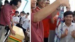 """Cộng đồng mạng - Lời chia sẻ của học sinh tặng quà sinh nhật """"độc"""" cho thầy giáo"""