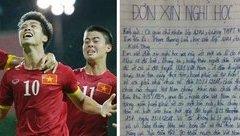 Cộng đồng mạng - Hiệu trưởng nói gì về lá đơn xin nghỉ học để xem U23 Việt Nam đá bán kết của học sinh?