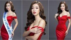 Giải trí - Hoa hậu Mỹ Linh thiêu đốt ánh nhìn với sắc đỏ