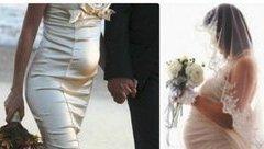 """Đời sống - Cô dâu vác bụng bầu trong ngày cưới: """"Vé vào cổng"""" cho hôn nhân?"""