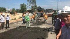 Tin nhanh - Quảng Nam: Lần đầu ứng dụng công nghệ sửa đường không vứt vật liệu hỏng