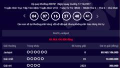 Tiêu dùng & Dư luận - Kết quả xổ số Vietlott ngày 17/12: Jackpot 66 tỷ đồng vô duyên