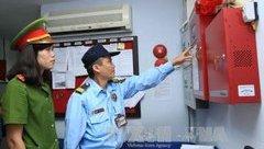 An ninh - Hình sự - Kiểm tra công tác phòng cháy, chữa cháy một số tòa nhà chung cư tại Hà Nội
