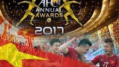Bóng đá Việt Nam - Lập kỷ lục, bóng đá Việt Nam nhận 2 đề cử giải thưởng 2017 của AFC