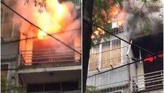 Mới- nóng - Clip: Đang cháy lớn trên đường Trần Khát Chân, Hà Nội