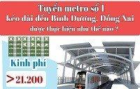 Xã hội - Tuyến metro số 1 kéo dài đến Bình Dương, Đồng Nai được thực hiện thế nào?