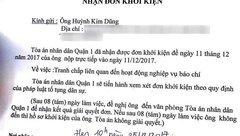 Sự kiện - TAND quận 1 xác nhận đã nhận đơn Duy Phương kiện đài HTV