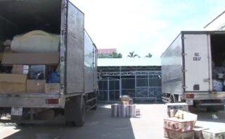 An ninh - Hình sự - Phát hiện 3 xe tải chở đầy hàng hóa không hóa đơn chứng từ