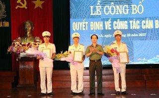 Tin tức - Chính trị - Công an Hà Tĩnh bổ nhiệm mới 3 lãnh đạo cấp phó thị xã và huyện