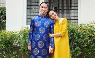 Ngôi sao - Tăng Thanh Hà khoe ảnh Tết ấm áp bên chồng đại gia