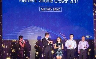 Tài chính - Ngân hàng - MB vào top 3 ngân hàng có tốc độ tăng trưởng doanh số giao dịch thẻ Visa cao nhất 2017