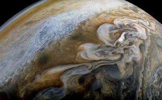 Cuộc sống số - Phát hiện mới về sao Mộc: Cốc kem xoắn khổng lồ trong vũ trụ