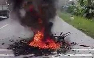 Chính trị - Xã hội - Thái Bình: Người phụ nữ chở bình gas mini bị bỏng nặng sau va chạm với ô tô