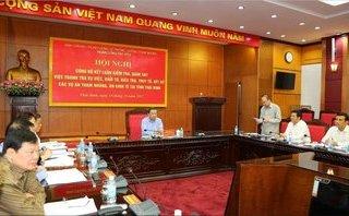 Chính trị - Xã hội - Thái Bình, Nam Định bị phê bình về công tác phòng chống tham nhũng