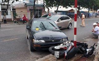 An ninh - Hình sự - Thái Bình: Hai ô tô rượt đuổi nhau trên phố, gây tai nạn cho người đi đường