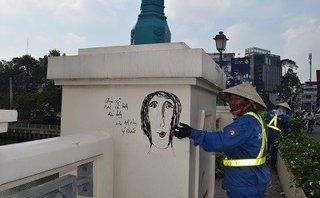 Chính trị - Xã hội - Những 'bức họa' kỳ dị ở cầu Bông: Đã sơn đè vẫn 'phô'