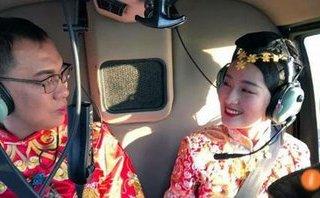 Cộng đồng mạng - Chú rể 'chơi sang' thuê máy bay trực thăng đón cô dâu