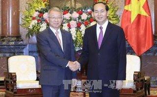Chính trị - Xã hội - Chủ tịch nước Trần Đại Quang tiếp Chánh án Tòa án tối cao Hàn Quốc