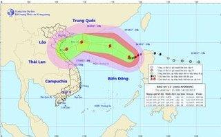 Chính trị - Xã hội - Đường đi của cơn bão số 11, sức gió có thể giật cấp 15