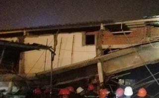 Tin nhanh - Sập tường công trình xây dựng siêu thị, ít nhất 4 người bị thương