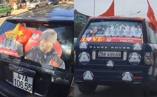 Mới- nóng - Clip: Những cách trang trí ôtô 'siêu độc' để cổ vũ cho U23 Việt Nam