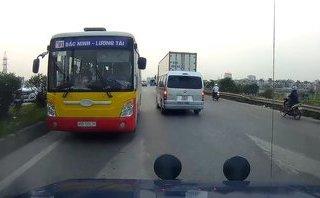 Xa lộ - Clip: Hoảng hồn cảnh xe buýt cố tình chạy ngược chiều trên QL18