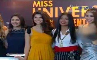 Giải trí - Xuất hiện nửa giây, Hoa hậu Phạm Hương bị che mờ vòng 1 trên truyền hình Indonesia