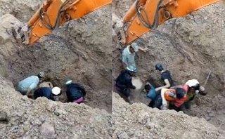 Mới- nóng - Clip: Nghẹt thở màn giải cứu cặp vợ chồng bị đất vùi sâu 2m