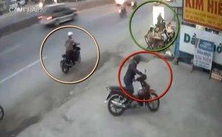 Mới- nóng - Clip: Màn dàn cảnh trộm xe vô cùng tinh vi giữa phố Sài Gòn
