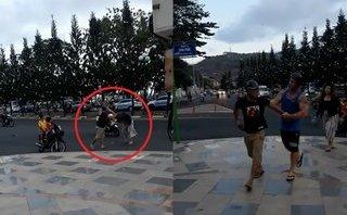 Mới- nóng - Clip: Đánh vợ giữa phố, người đàn ông bị thanh niên Tây lao vào khóa tay