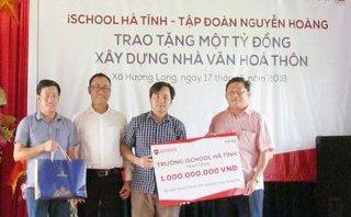 Tin nhanh - Trường Ischool Hà Tĩnh trao tặng 1 tỷ đồng xây dựng nhà văn hóa thôn