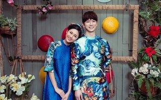 Ngôi sao - Á hậu Thanh Tú 'tình tứ' bên trai Hàn trong bộ ảnh Tết